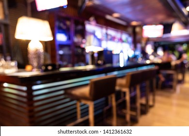Perspective view of drunk person with blurred vision in bar pub