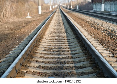 Perspective view of the railroad