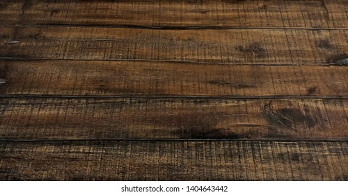 Perspective view of wood or wooden table from top or above
