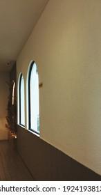 Perspective warm room with vintage atmosphere