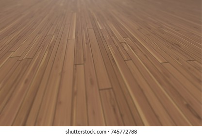 Perspective Wood Texture 3D Illustration, Wooden Floor, Plank Background
