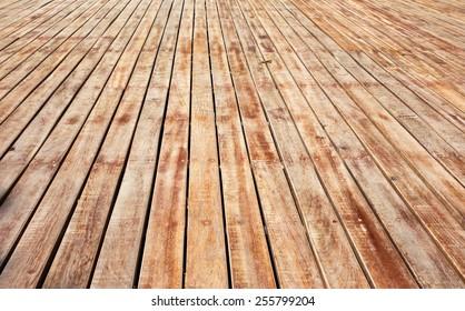 perspective wooden floor