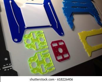 Perspex, acrylic, laser cut parts for 3d printer. plastic.