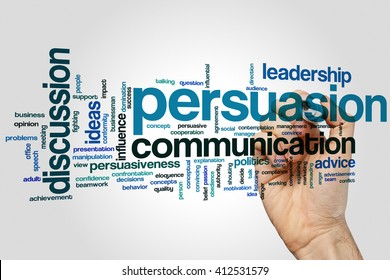 Persuasion concept word cloud background