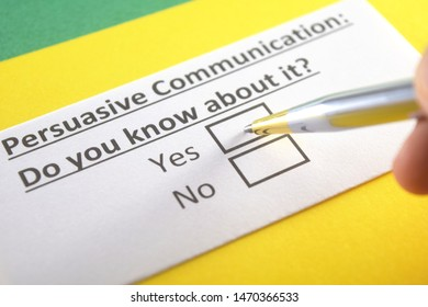 Persuasive communication: do you know about it? yes or no