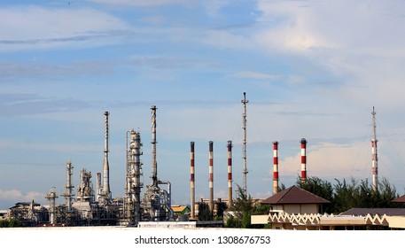 pertamina industry at Balikpapan city