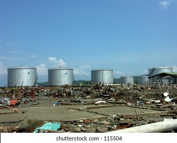 Pertamina (oil company) after Tsunami in Aceh Indonesia