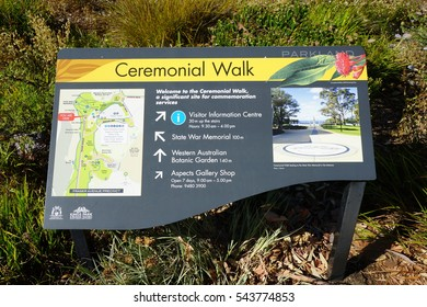 PERTH, AUSTRALIA -15 DEC 2016- Kings Park, a large park in the city of Perth, is home to the Western Australian Botanic Garden. It is a popular attraction in Perth.