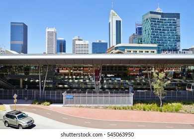 PERTH, AUSTRALIA -15 DEC 2016- The Perth Railway Station is the largest station on the Transperth network in Western Australia.