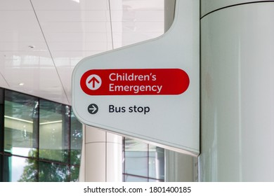 Perth, Australia - August 23rd 2020: Emergency at Perth's Children's Hospital in Nedlands