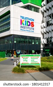 Perth, Australia - August 23rd 2020: Telethon Kid's Institute entrance at Perth's Children's Hospital