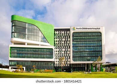 Perth, Australia - August 23rd 2020: Perth's Children's Hospital and Telethon Kid's Institute