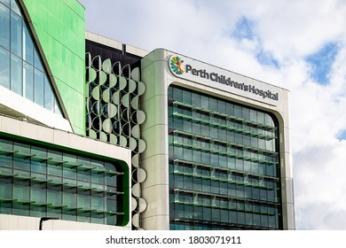 Perth, Australia - August 23rd 2020: Perth's Children's Hospital