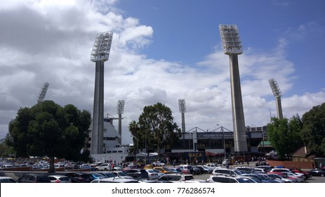 PERTH, AUSTRALIA - December 17, 2017: The WACA is a sports stadium in Perth, Western Australia. Built in the early 1890s for cricket and other sports in Western Australia