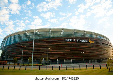 PERTH, AUSTRALIA - February 1, 2018: New Optus Stadium opened in January with a capacity of 60000 people