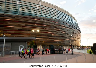 PERTH, AUSTRALIA - February 1, 2018: New Optus Stadium in Perth opened in January with a capacity of 60000 people