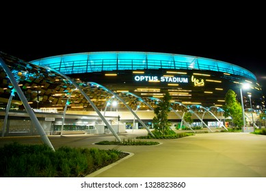 PERTH, AUSTRALIA - February 1, 2018: The Optus Stadium in Perth opened in January 2018 with a capacity of 60000 people