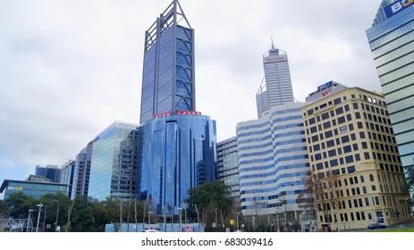 PERTH, AUSTRALIA, JULY 22, 2017 : Perth city, Western Australia. Central business district.