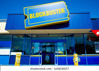 Perth, Australia - March 13, 2019: The last Blockbuster video store in Australia closing down in the suburb of Morley