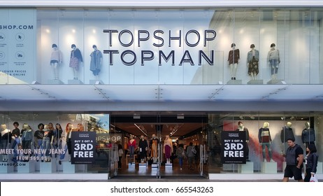 Perth, Australia - May 2017: Topman is the stand-alone fashion business counterpart of Topshop that caters exclusively to men's clothing.