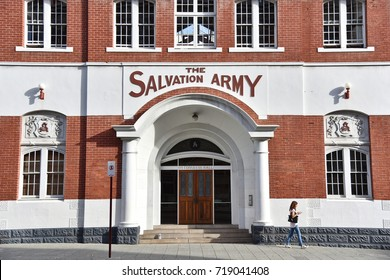 Perth, Australia - May 30, 2017: View of the Salvation Army building in the city centre.