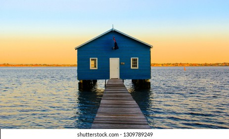 PERTH, AUSTRALIA - NOVEMBER 10, 2014: Crawley Edge Boatshed, a popular and well-recognized site in Perth, Western Australia