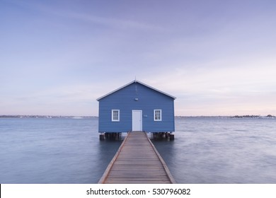 PERTH, AUSTRALIA - NOVEMBER 19, 2016: Crawley Edge Boatshed, a popular and well-recognized site in Perth, Western Australia.