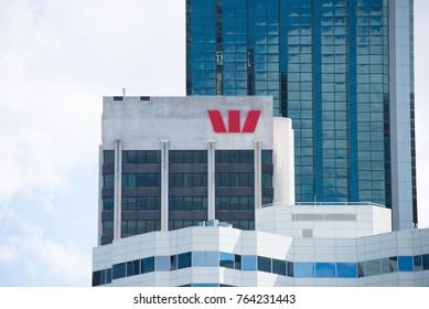 Perth, Australia, November 21, 2017: Westpac Headquarter in Perth business district, Western Australia.