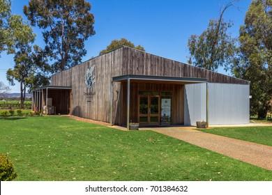 PERTH, AUSTRALIA - November 4, 2016 : nice wooden house beside the vineyard