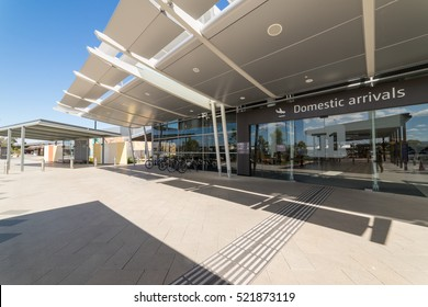 PERTH, AUSTRALIA - NOVEMBER 4,2016 : Modern exterior at perth airport area. Perth Airport is a domestic and international airport serving Perth, the capital and largest city of Western Australia.