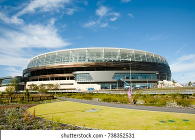 PERTH, AUSTRALIA - October 19, 2017: New stadium with a capacity of 60000 people opening in January 2018