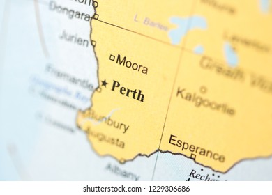 Perth On Australia Map.Perth Map Stock Photos Images Photography Shutterstock