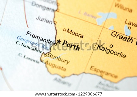 Map Australia Perth.Perth Australia On Geography Map Stock Photo Edit Now 1229306677