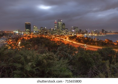 Perth City viewed from Kings Park Botanical Garden. 29 August 2017