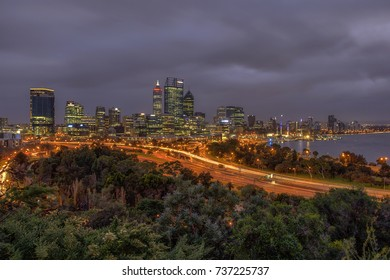 Perth City viewed from Kings Park, Western Australia. 29 July 2017