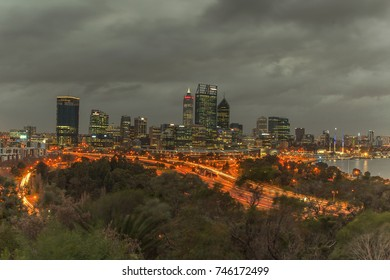 Perth City viewed from Kings Park Western Australia. 29 July 2017