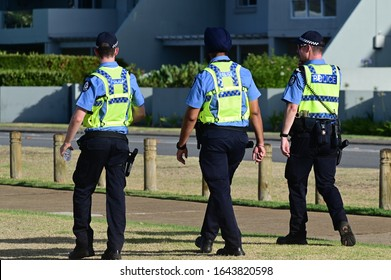 PERTH - JAN 26 2020:Western Australia policemen. WAPOL, provides police services in area of 2.5 million km2 the world's largest non-federated area of jurisdiction with a population of only 2.4m people