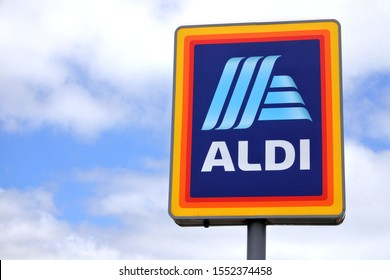 PERTH - OCT 28 2019:Aldi  a German family-owned discount supermarket chains with over 10,000 stores in 20 countries, and an estimated combined turnover of more than €50 billion