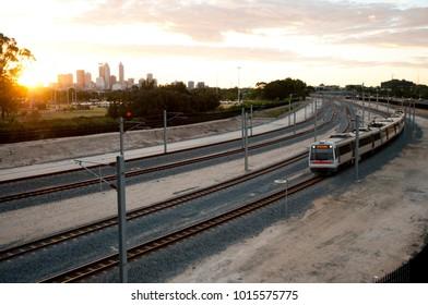 Perth Stadium Train Line - Australia