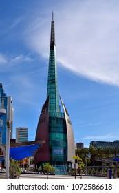 PERTH, WA, AUSTRALIA - NOVEMBER  27: The Bell Tower, landmark in the capital of Western Australia, on November 27, 2017 in Perth, Australia