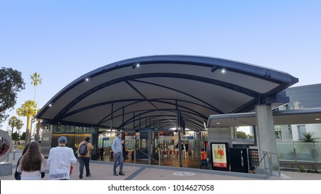 Perth, Western Australia - May 2017: Transperth is the brand name of the public transport system serving the city and suburbs of Perth, the state capital of Western Australia.