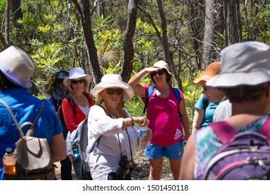 Perth, Western Australia / Australia - November 10 2015: A group of older people gathered outdoors