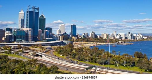 Perth's skyline, western Australia