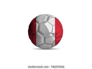 Peru ball ,High quality render of 3D football ball 3D rendering.