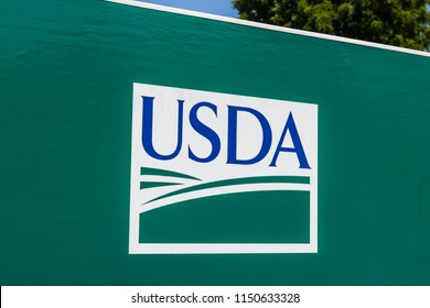 Peru - Circa August 2018: USDA Service Center. The US Department of Agriculture is responsible for laws related to farming, forestry, and food I