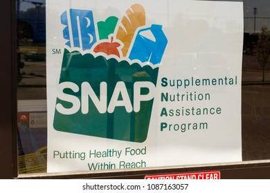 Peru - Circa May 2018: A Sign at a Retailer - We Accept SNAP IV