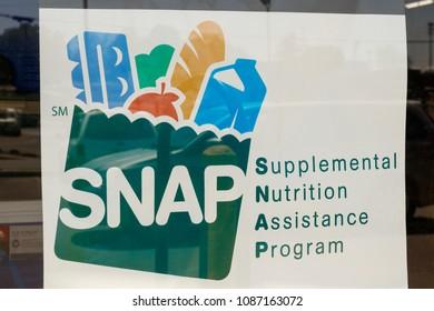 Peru - Circa May 2018: A Sign at a Retailer - We Accept SNAP V