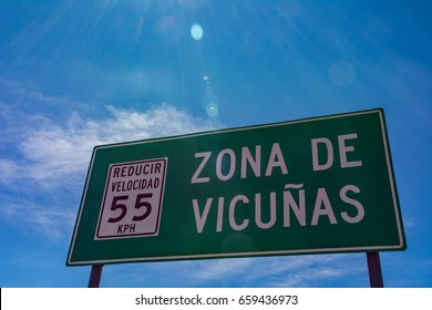 Peru cruz alto vicuna sign