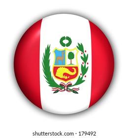 Peru Flag Button