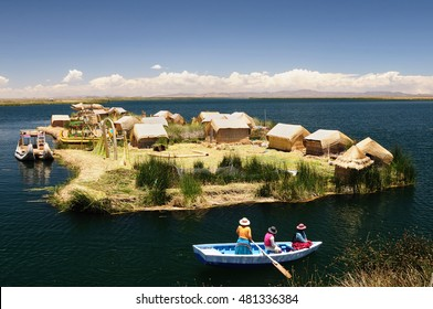 Peru, Titicaca lake, Uros islands